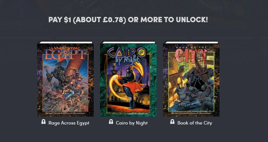 The World of Darkness is on Humble Bundle